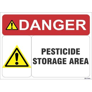 SignageShop  High quality Vinyl Pesticide Storage Area Sign