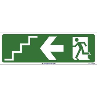 SignageShop  Glow in Dark Staircase Exit Sign (Pack of 5 Nos)
