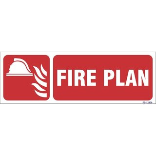 SignageShop  Glow in Dark Fire Plan Sign (Pack of 5 Nos)