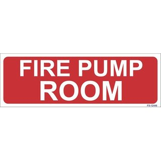 SignageShop  Glow in Dark Fire Pump Room Sign (Pack of 5 Nos)