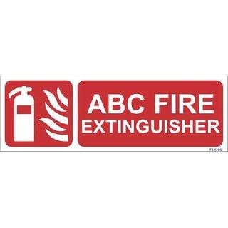 SignageShop  Glow in Dark ABC Fire Extinguisher Sign