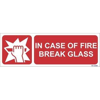 SignageShop  Glow in Dark In Case of Fire Break Glass Sign