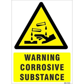 SignageShop  High quality Vinyl Warning Corrosive Substance Sign