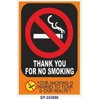 SignageShop  High quality flex Thank you for  no smoking Poster