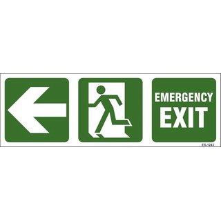 SignageShop  Glow in Dark Emergency Exit with Man running Sign (Pack of 5 Nos)