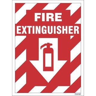 SignageShop  Glow in Dark Fire Extinguisher with arrow Sign (Pack of 5 Nos)