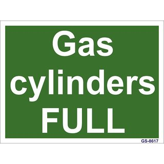 SignageShop  Glow In Dark Gas cylinders Full Sign (Pack of 5 Nos)