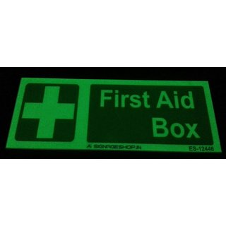 SignageShop  Glow In Dark First Aid Box Stickers