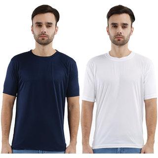 Krazy Katz Premium Polyster Round Neck  T Shirts for Men (Pack Of 2)