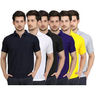Krazy Katz Premium Polo Neck T Shirts For Men (Pack of 6)