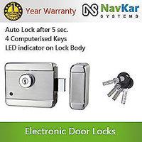 Stainless Steel Electronic Door Lock for Wooden  Metal Doors with Motorised Tec