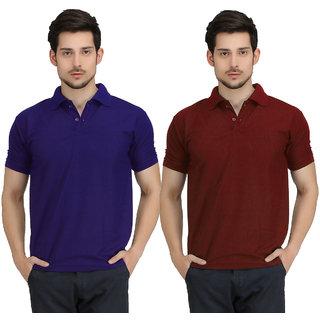 Krazy Katz Preimum Polo Neck T Shirts For Men (Pack of 2)