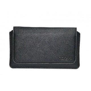 JVM PU Leather Hand Pouch for Archos 45 Platinum (BLACK)