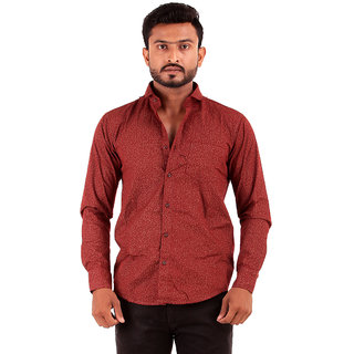 Red Shirt with Vine Print
