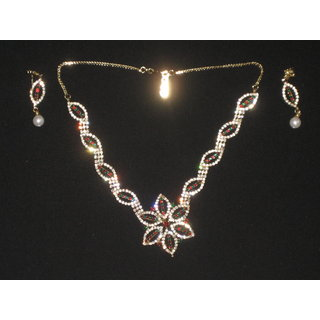 Studded Diamond Ethnic Necklace