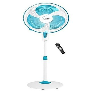 V-GUARD Finesta Remote 3 Blade Pedestal Fan BLUE