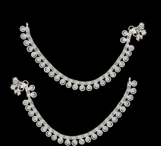 Sparkling Jewellery Silver Plated Silver Alloy Payal & Pajab For Women