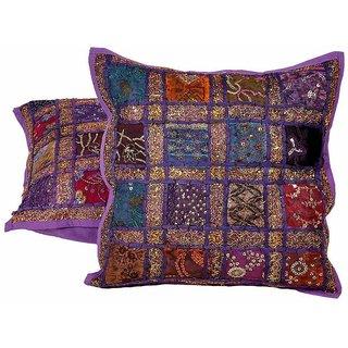 Jaipuri Patchwork 2 Pc. Cotton Cushion Covers Set 802