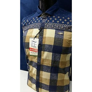 Cotton Base Mix N Match Dsigner Pannel Print Shirt