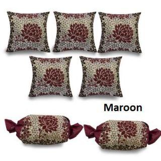5 Cushion  2 Bolster Cover Set