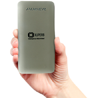 Xuperb Polymer SLIM (POLY-AXIS-100) 10000 mAh Powerbank (Silver) - 6 Months Manufacturer Warranty
