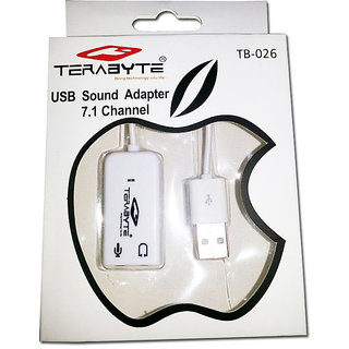 Terabyte USB Sound Card Adapter USB 3D Virtual 7.1 Channel Stereo  MIC