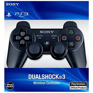 Dual Shock 3 Wireless Controller Remote for Sony Playstation 3 PS3 - Black
