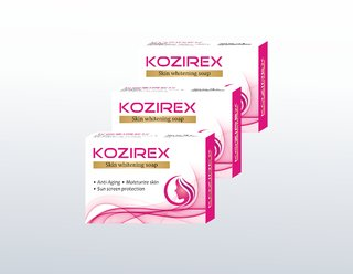 Biotrex Kozirex Skin Whitening and Lightening Bath and Beauty Soap - Pack of 3