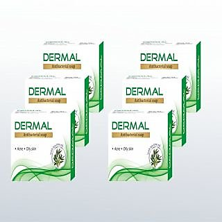 Biotrex Dermal Antibacterial Skin moisturizing Bath Soap - Pack of 6
