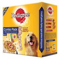 Pedigree (Adult - Dog Food) Chicken  Vegetables, 480 Gm Small Pack (Pack Of 2)