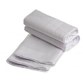 White Cotton 4 Pieces Hanky