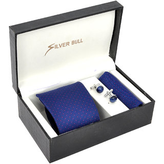 Silverbull Snazzy Combo Pack Of Tie,Cufflinks  Pocket Square