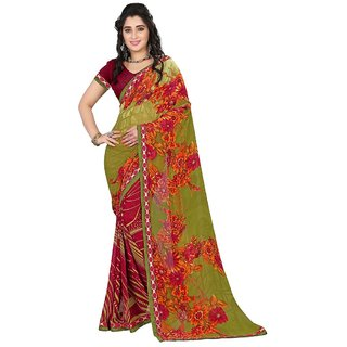 Karishma Multicolor Georgette Floral Saree With Blouse