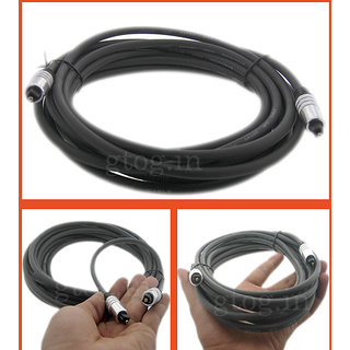 FIBER OPTIC CABLE CORD TOSLINK TO TOSLINK 5M