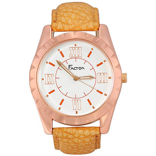 Factor Copper Dial Roman Numeral Watch- For Men