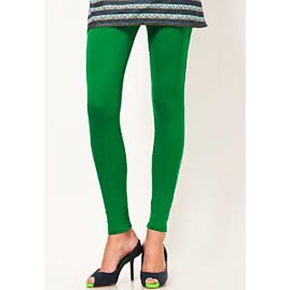 Regina New Arrival Green Cotton Leggings