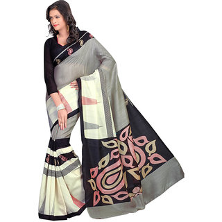 Kamdhenu Fabrics Fancy Designer Bhagalpuri Printed Saree.