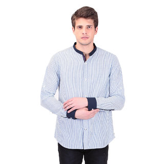 TAG 7 Blue Designer Shirts For Men