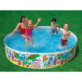 Intex 8 Feet Swimming Pool For Kids And Adults Home Garden Farmhouse