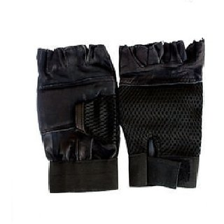 XORO Gym Gloves WithOut Wrist Support (Black Color)