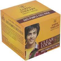 EARTH THERAPY Clear Look Anti Pimple Aloevera- Lemon Oil Face Pack (Men) 75g