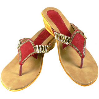 Maayas Women KBSS 06 Red Sandal