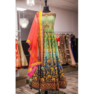 New Multi Color Satin Silk Printed Designer Lehenga Choli