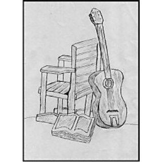 buy pencil sketch of guitar online get 0 off