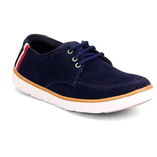 Molessi Blue Suede Casual Shoes