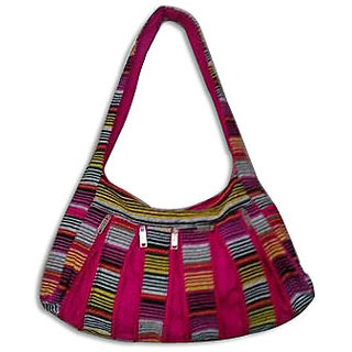 Cotton Multicolour Zipper Bag