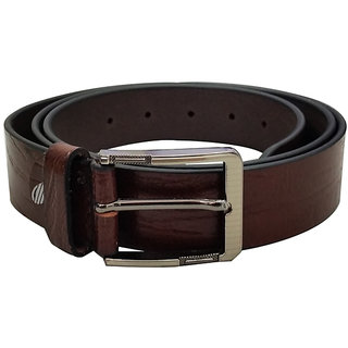 Verceys Brown Genuine Leather Pin Buckle Casual Belt For Men
