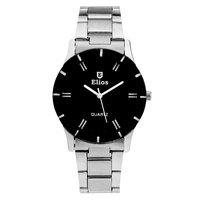 Elios Original Black Dial Analog Steel Watch for Women