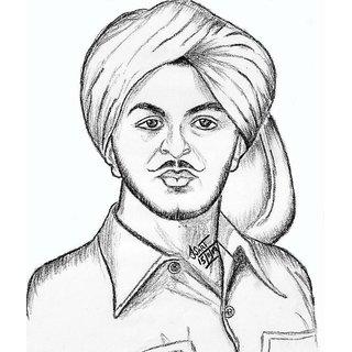 bhagat singh drawing pic bhagat singh sketch portal.html