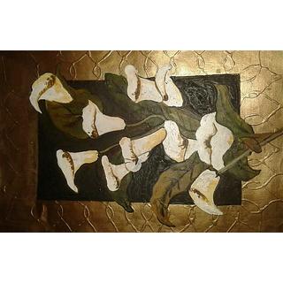 Flower Handmade Paper Oil Painting